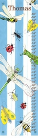 children's growth chart - bugs and stripes