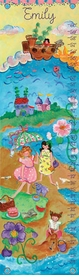 children's growth chart - by the sea (girl)