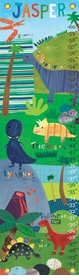 children's growth chart - dinosaurs