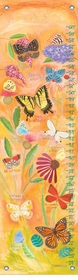 children's growth chart - exotic butterflies