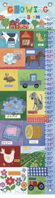 children's growth chart - growing on the farm
