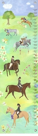 children's growth chart - horse show