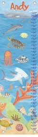 children's growth chart - ocean world