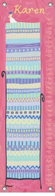 children's growth chart - princess and the pea (blonde hair)