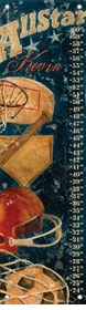 children's growth chart  - vintage sports