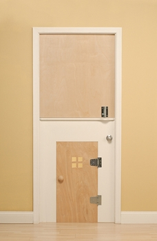 children's safety door - two tone modern