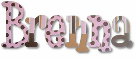 """chocolate strawberry caramel 8"""" wooden wall letters"""