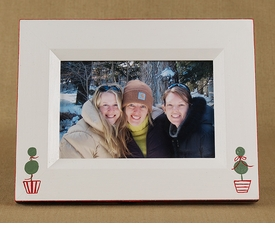 christmas holiday topiary picture frame