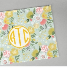 clairebella personalized woven placemats