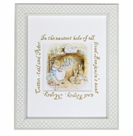 classic enchanted forest rabbits framed art print
