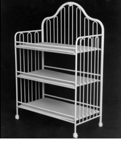 classic iron changing table by corsican