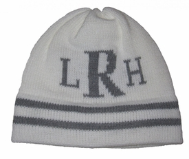 classic personalized hat with monogrammed initials