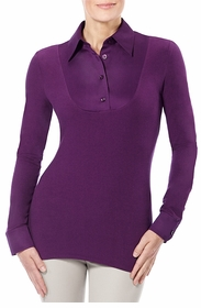 classic plum long sleeved shirt
