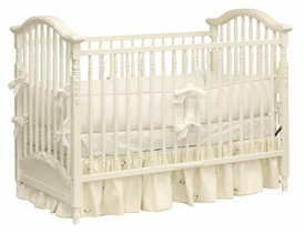 classic white madison spindle crib by art for kids