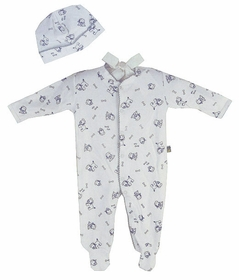cotton footie romper set - my dog