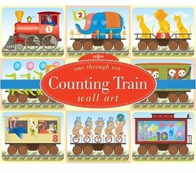 counting trains wall art by eeboo