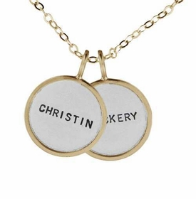 custom medium silver and gold name duo necklace