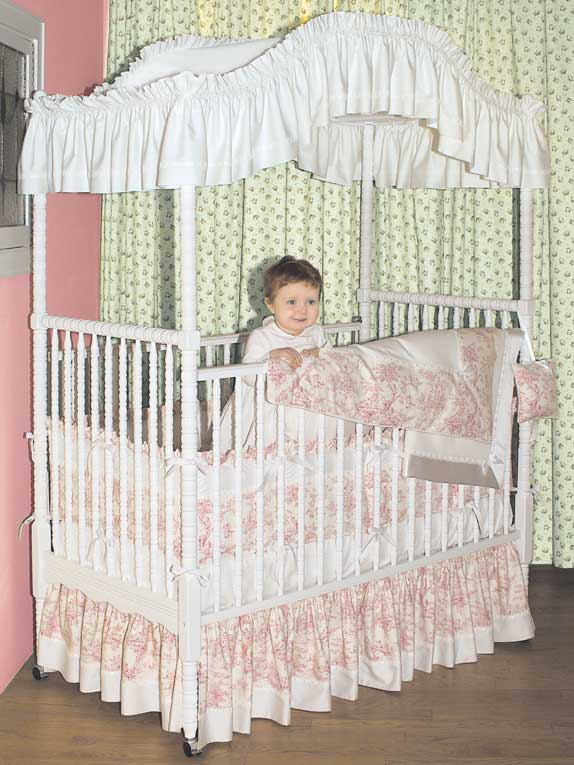 custom toile crib bedding 1