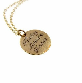 customized round gold charm necklace