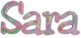 """cute bugs 8"""" wooden hanging letters"""