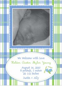 dabney lee baby photo announcement cards