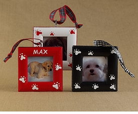 dog paws christmas ornament