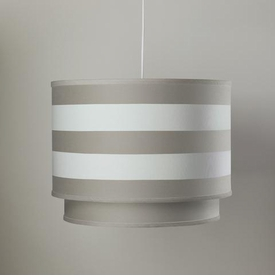 double cylinder light - taupe stripe