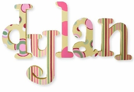 """dylan's dots whimsical 8"""" wooden hanging letters"""