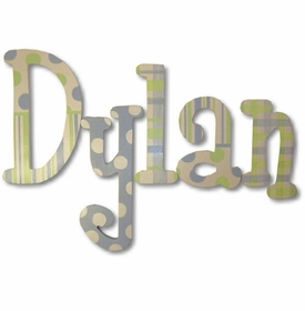 """dylan's patterns 8"""" wooden hanging letters"""