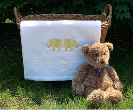 elephant fluffy blanket - yellow by sweet william