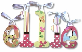 """ellie's jungle 8"""" wooden wall letters"""