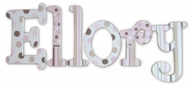 """ellory whimsical style 8"""" wooden hanging letters"""