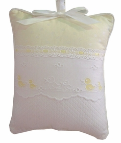 embroidered ducks crib bedding by blauen