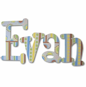 """evan's patterns 8"""" wooden hanging letters"""