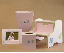 frame, waste basket, tissue box, step stool set - dresses