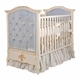 french panel upholstered crib - tufted