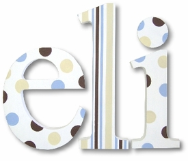 """french vanilla and chocolate nantucket 8"""" wooden hanging letters"""