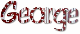 """george's stripes and dots 8"""" wooden wall letters"""