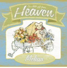 gift from heaven vintage sign