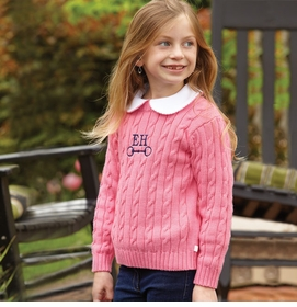 girls cableknit sweater