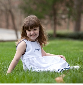 girl's garden princess -white with navy