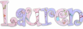 """girl talk 8"""" wooden hanging letters"""