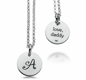 girls initial necklace