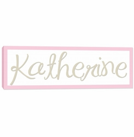 girls name canvas wall art