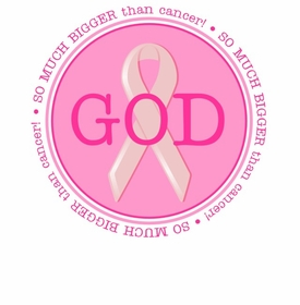 GOD IS SO MUCH BIGGER Than Cancer - Breast Cancer Shirt