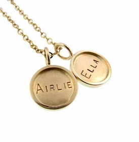 gold name charms