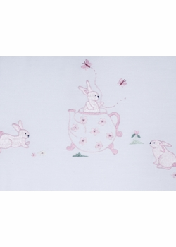 gordonsbury bunny tea party guest towel