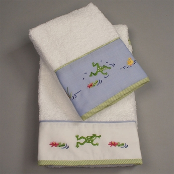 gordonsbury froggy pond facecloth set