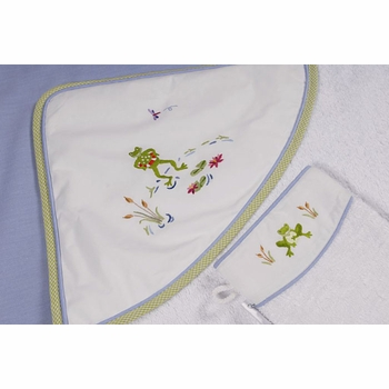 gordonsbury froggy pond hooded towel and mitt