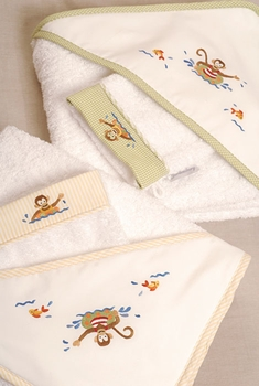 gordonsbury monkey business hooded towel and mitt